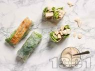 Рецепта Веган пролетни рулца с тофу, авокадо и пармезан